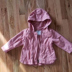 Old Navy Toddler Girl Pink Cargo Jacket, 18-24